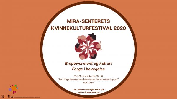 MiRA-Senteret inviterer til kvinnekulturfestival!